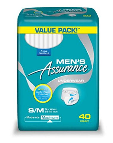 Assurance for Men Maximum Absorbency Protective Underwear Small/Medium 120 Count Value Pack