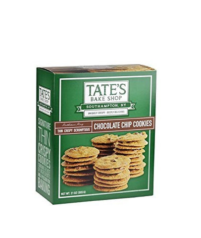 Tate's Bake Shop Chocolate Chip Cookies, Family Size 3 Pack Jjs( 21 oz each )