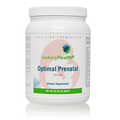 Seeking Health | Optimal Prenatal Protein Powder | Chocolate | Vegetarian Prenatal Supplement | Prenatal Vitamins | 15 Servings
