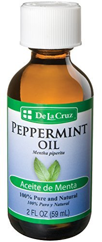 De La Cruz Pure Peppermint Essential Oil, Steam-Distilled, Bottled in USA 2 FL OZ