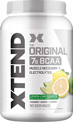 XTEND Original BCAA Powder Lemon Lime Squeeze | Sugar Free Post Workout Muscle Recovery Drink with Amino Acids | 7g BCAAs for Men & Women| 90 Servings