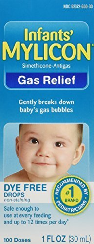 Mylicon Infant Drops Anti-Gas Relief Dye Free formula, 1.0 Fluid Ounce by Mylicon