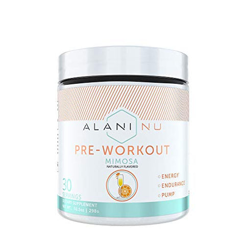 Alani Nu Pre Workout Supplement Powder For Energy, Endurance, And Pump, Mimosa, 30 Servings
