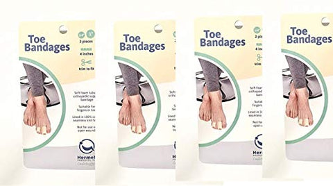 Toe Bandages 2 pcs(Pack of 4) Total 8