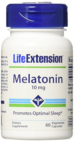 Life Extension Melatonin Supplement Capsules, 60 Count