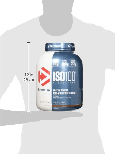 Dymatize Iso100 Hydrolyzed Protein Powder, 100% Whey Isolate Protein, 25g Of Protein, 5.5g Bca As, Gl