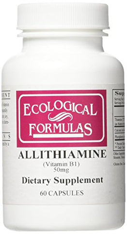 Ecological Formulas Allithiamine Vitamin B1 50 Mg, White, 60 Count