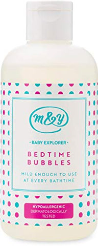 Mum & You Baby Explorer Bedtime Bubbles,1 ea (8.45 fl oz), Formulated Without Major Allergens. Hypoallergenic & Dermatologically Tested. Light Bedtime Fragrance. Suitable for Sensitive Skin