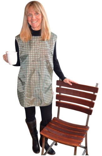 "TidyTop Stylish Clothing Protector, Plaid, Adult Bib, 18"" by 35"""