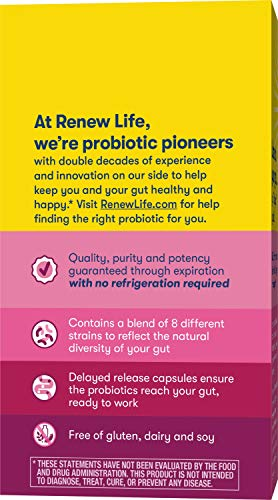 Renew Life Womens Probiotic   Ultimate Flora Women's Care Go Pack Probiotic Supplement   Shelf Stabl