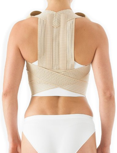 Neo G Clavicle Brace - Back Support for Posture Correction, Early Kyphosis, Rounded Shoulders, Pain Relief, Muscular Aches, Rehab - Fully Adjustable - Class 1 Medical Device - XX-Large - Tan