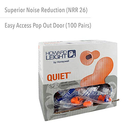 Honeywell Howard Leight By  Quiet Reusable Earplugs, 100 Pairs (Qd1), Orange