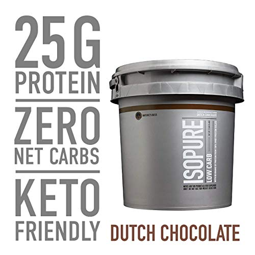 Isopure Low Carb, Vitamin C And Zinc For Immune Support, 25g Protein, Keto Friendly Protein Powder,
