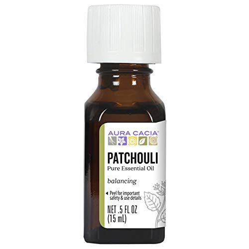 Aura Cacia 100% Dark Patchouli Essential Oil | Gc/Ms Tested For Purity | 15 Ml (0.5 Fl. Oz.) | Pogos
