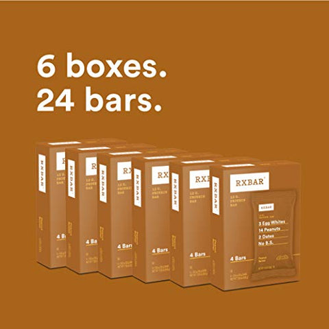 RXBAR, Peanut Butter, Protein Bar, 1.83 Ounce (Pack of 24) Breakfast Bar, High Protein Snack