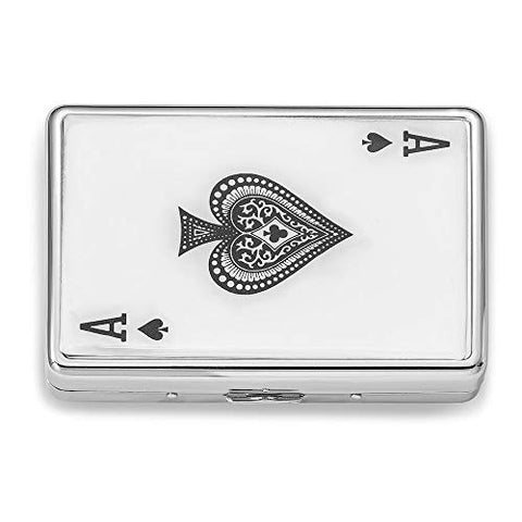 Jewels By Lux Silver-Tone Ace Multi-Purpose Case (Holds 16 Cigarettes)