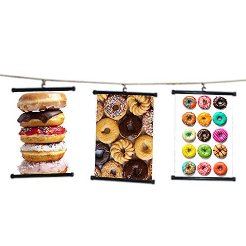 sp217090 Donuts Wall Scroll Poster For Bakery Shop Decor Display