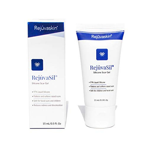 Rejuvaskin RejuvaSil Silicone Scar Gel - Improves the Appearance of Scars - Physician Recommended - 15 mL