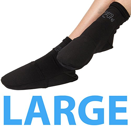 Natra Cure Cold Therapy Socks   Reusable Gel Ice Frozen Slippers For Feet, Heels, Swelling, Edema, Ar