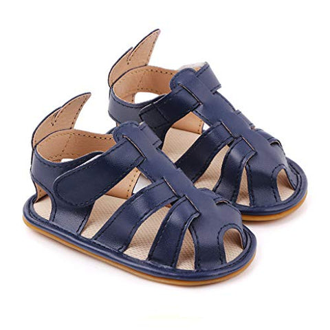 Infant Baby Girls Summer Sandals Solid Color Closed-Toe Breathable Soft Sole Toddler First Walker Shoes