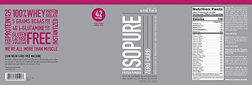 Isopure Zero Carb, Vitamin C And Zinc For Immune Support, 25g Protein, Keto Friendly Protein Powder,