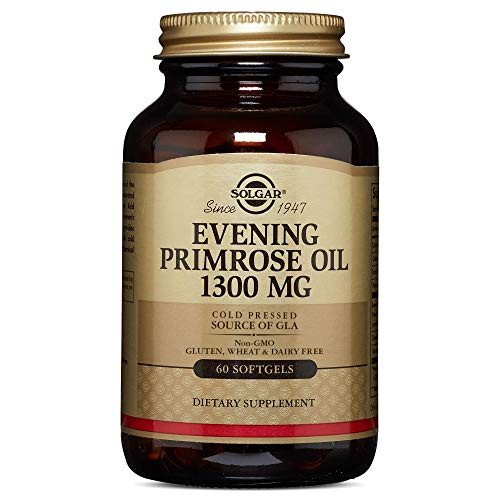 Solgar Evening Primrose Oil 1300 Mg, 60 Softgels   Pack Of 2   Promotes Healthy Skin & Cardiovascula