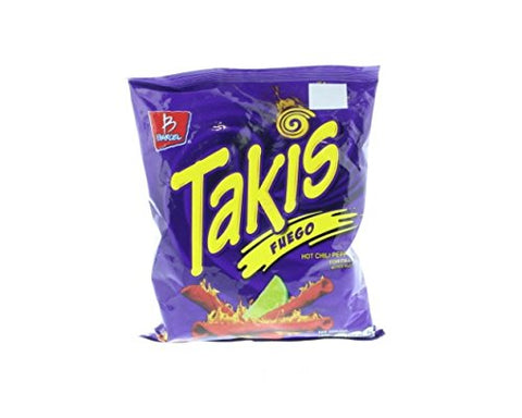 Takis Tortilla Chips Hot Chili Pepper and Lime - Chile y Limon 4 Oz (Pack of 24)