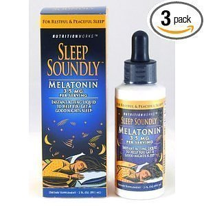 Sleep Soundly Melatonin, 2-Ounce Bottles (Pack of 3) Personal Healthcare / Health Care