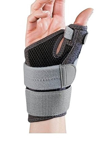 Mueller Sports Medicine Adjust-to-Fit Thumb Stabilizer, Gray, One Size Fits Most