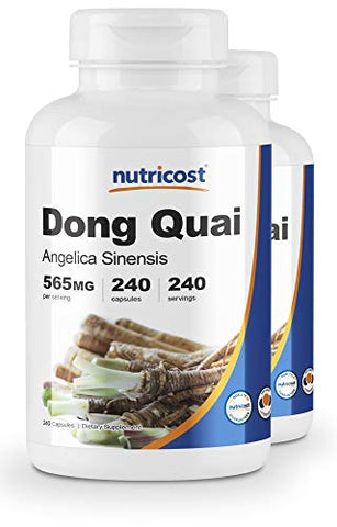 Nutricost Dong Quai 565mg, 240 Capsules (2 Bottles)