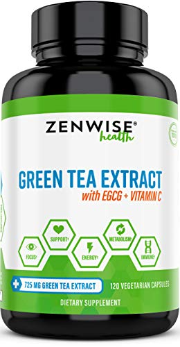Green Tea Extract With Egcg & Vitamin C   Antioxidant & Immune Supplement   Metabolism Booster For V