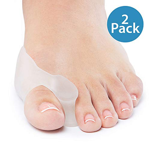 Natra Cure Gel Big Toe Bunion Guards & Toe Spreaders (2 Pieces)   Pain Relief For Crooked, Overlappin