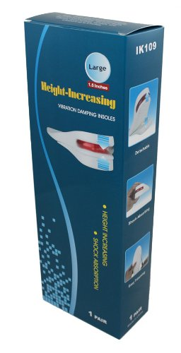 Height Increase Elevator Shoes Insole - Size S - 1.5 to 2 inches Taller (White)