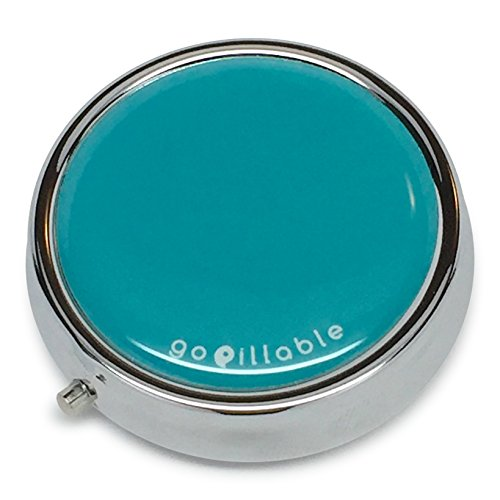 Pill Box For Purse Or Pocket By Gopillable Teal