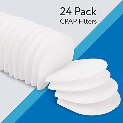 Impressa 24 Pack CPAP Filters Compatible with ResMed AirMini CPAP Machine - Fine Hypoallergenic Air Filters CPAP Supplies & Accessories - Disposable CPAP Filters - CPAP Replacement Filters