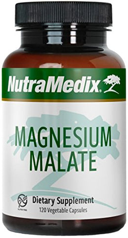 Nutra Medix Magnesium Malate 200mg   Bone, Relaxation & Energy Support Bioavailable Magnesium Capsule