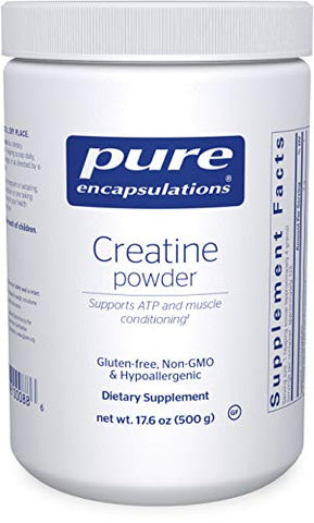 Pure Encapsulations - Creatine Powder - Hypoallergenic Strength and Conditioning Support Formula for Athletes* - 500 Grams