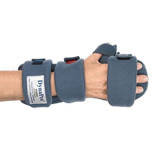 DynaPro Orthotics - Finger Flex Splints, Left, Adult Large, Total Length 8-9.5, MCPWidth 3.5-4 by DYNAPRO