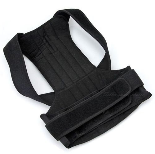 Adjustable Posture Corrector Brace Back Support Belt   Cotton Inner Layer, Waist Length Fits 27.5 33