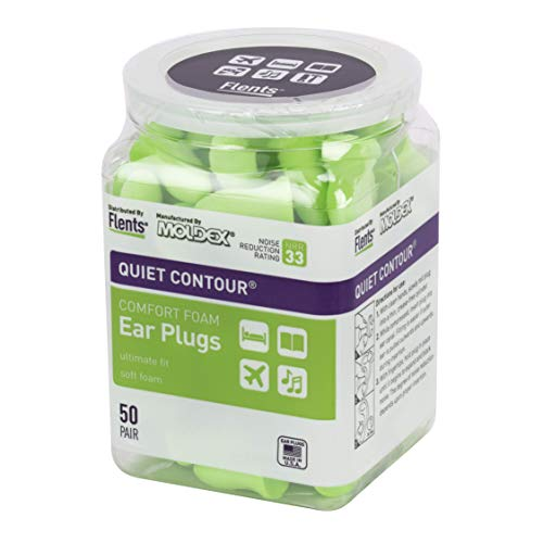 Flents Ear Plugs, 50 Pair, Ear Plugs For Sleeping, Snoring, Loud Noise, Traveling, Concerts, Constru
