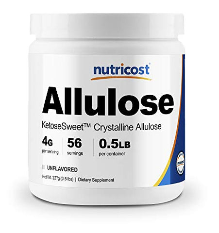 Nutricost Allulose Sweetener (8oz) - KETO Sugar, 0 Calorie, Low Carb, Natural Sugar Alternative, Crystalline Powder (.5 LB)