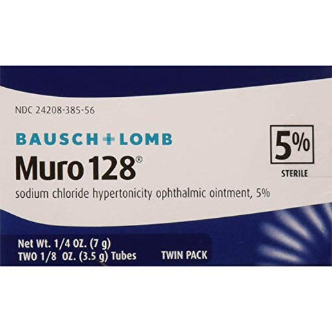 PACK OF 3 EACH MURO 128 5% 0.0 TWIN PACK B&L 3.5GM PT#24208038556