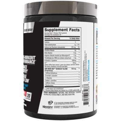 "Bpi Sports One More Rep Complete ã¢â€â"" Pre Workout Powder   Citrulline ã¢â€â"" Beta Alanine ã¢â€â"" C"