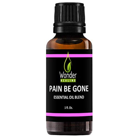 Pain Be Gone Essential Oil (comparable to Panaway) - All-Natural Pain Remedy- (Clove, Helichrysum, Peppermint and Wintergreen) Fast Acting with High Success Rate -by Wonder Healing (30 ml / 1 oz)