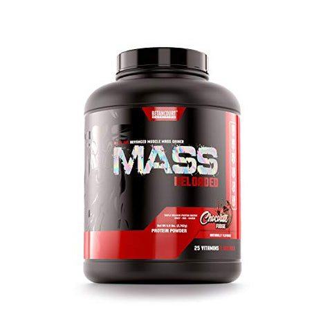 Betancourt Nutrition Mass Reloaded Powder, 5lb, Chocolate Fudge