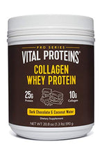 Collagen Whey Protein Powder - 25g of protein per serving (Dark Chocolate), 20.2 oz Canister - Vital Proteins Whey