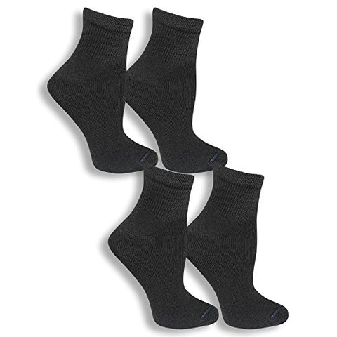 Dr. Scholl's Men's 4 Pack Diabetic and Circulatory Non Binding Ankle Socks, Black, Shoe Size: 7-12