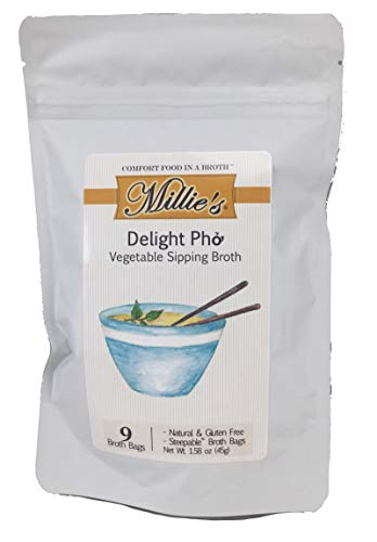 Millie's Vegetable Sipping Broth, Delight Pho, 9 Count