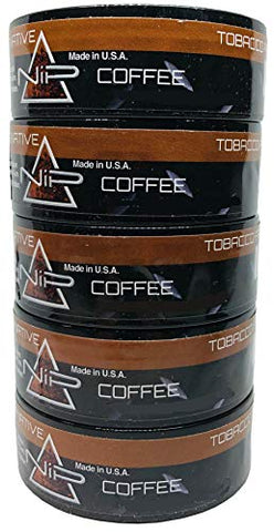 Nip Energy Dip Coffee 5 Cans with DC Crafts Nation Skin Can Cover - FIT Black