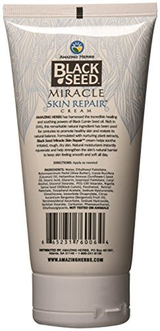 Amazing Herbs Black Seed Miracle Skin Repair Cream, 6 Oz